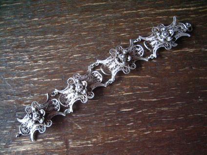traumhaftes breites Trachten Dirndl Solje Schmuck Armband Silber Handarbeit