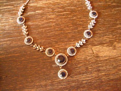 Kronjuwelen gesucht ? geschmackvolles saphir blau diamant Collier 925er Silber