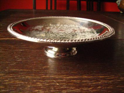 prächtiger Tafelaufsatz Etagere Obstschale Cake Stand auf Fuß silber pl England