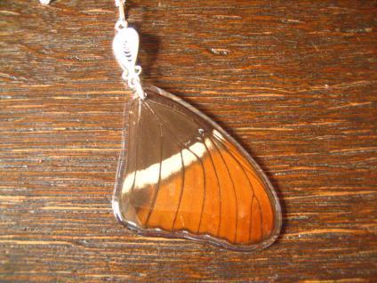 Schatz der Natur Anhänger Schmetterlingsflügel E 925er Silber Kette Eco Friendly - Vorschau 1