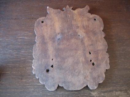 Rarität ! aufwändiges Wappen Adelswappen Vollwappen geschnitzt Holz 27 x 21 cm - Vorschau 4
