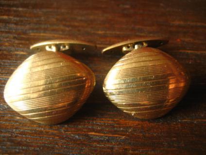 zeitlos elegante Jugendstil Manschettenknöpfe seltene Rauten Form gold Doublé