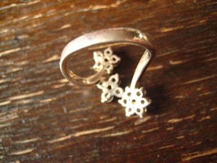 bezaubernder Vintage Designer Ring Stern Sterne Sternchen 925er Silber Zirkonia - Vorschau 4