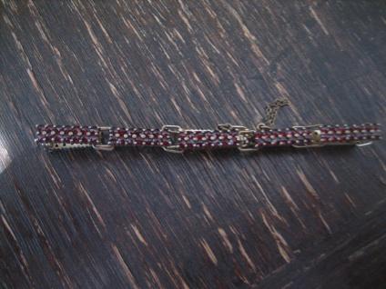 feines Jugendstil Granat Armband 800er Silber gold böhmische Granaten 2reinig