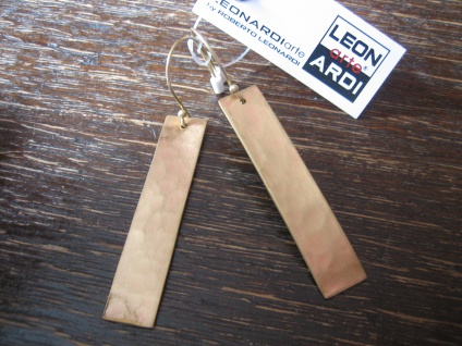 exklusive lange Statement Ohrringe gold Designer Leonardi Arte Saadia Collection