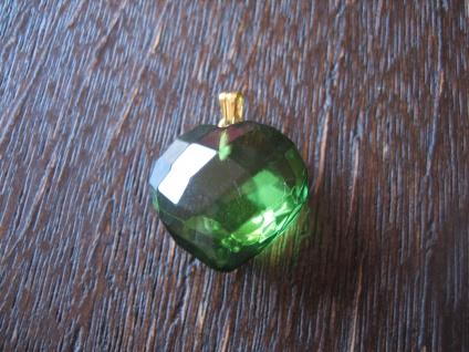 Traum in Giftgrün - Herz Anhänger seltener grüner Bernstein 925er Silber grün - Vorschau 2