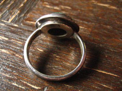 zeitlos eleganter Vintage Designer Ring Azurit Malachit 925er Silber 17, 5 m G 55 - Vorschau 4