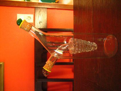 geschmackvolle Essig und Öl Flasche Motivflasche 2in1 Weintraube Menage Glas