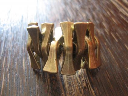 origineller Statement Ring Designer Leonardi Arte antik gold Bronze verstellbar