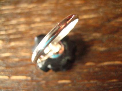 ausgefallener dekorativer Rosen Ring schwarze Rose 925er Silber et Nox all Size - Vorschau 3