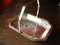 eleganter Tafelaufsatz Etagere Silberschale Obstschale Henkelschale silber pl