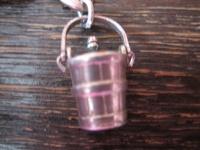 winziger Anhänger Bettelarmband Silber Sektkühler Sekteimer Eimer Sekt beweglich
