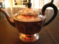 elegante Art Deco Teekanne Kaffeekanne Silberkanne silber pl Viners of Sheffield
