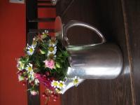 schlichte edle britische Teekanne tolle Blumen Deko als Rosenvase silber plated
