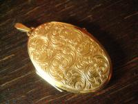 fantastischer großer Art Deco Medallion Anhänger gold Doublé schön verziert