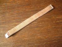 prächtiges 17 mm breit Vintage Armband weißgold Optik silber rhodiniert elegant