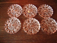 6 kleine Teller für Konfekt Untersetzer Tellerchen Glasuntersetzer Bleikristall
