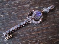Kronjuwelen gesucht ? prächtiger Anhänger Schlüssel Liebe Herz 925er Silber gold