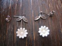 bezaubernde hauchzarte Ohrringe Hänger Chandeliers 925er Silber Blume Blümchen