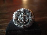 maritimer Herrenring Ring Kompass und Anker 925er Silber neu et Nox 20, 5 mm RG 65