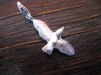 Möwe im Flug maritimer Anhänger Vogel Albatros Silbermöwe 925er Silber Charm C Karabiner