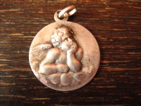 reizender Kinder Anhänger Bettelarmband Schutzengel Engel Amulett 800er Silber