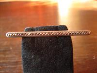 zeitlos elegante Art Deco Markasit Krawattennadel Stabnadel Brosche 835er Silber