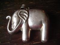 riesiger super schöner Elefant Anhänger 925er Silber Vintage Handarbeit