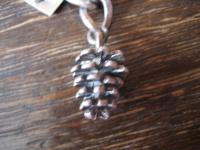 winziger Bettelarmband Anhänger Zapfen Pinienzapfen Tannenzapfen 925er Silber