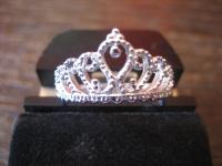 anmutiger Ring Krone Krönchen Tiara 925er Silber wunderschön neu RG 60 19 mm
