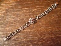 bezauberndes antikes Trachten Granat Armband 835er Silber Dirndl floral verziert