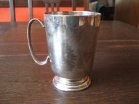 sehr edler Silberbecher Pub Becher 250 ml silper pl England witzig als Vase