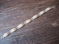 bezauberndes Vintage Art Deco gold Armband mit Blüten Blumen 19 cm x 1 cm breit