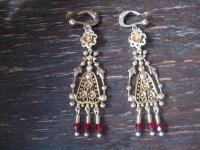 traumhaft schöne Ohrringe Hänger Chandeliers 925er Silber gold reich verziert
