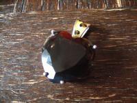 prächtiger Vintage Designer Herz Anhänger riesiges Topas Herz 925er Silber Sigal