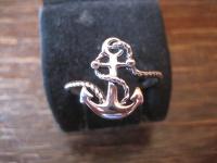zierlicher maritimer Anker Ring für die Piratenbraut 925er Silber neu RG 62
