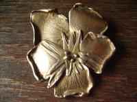 wunderschöne große Blüten Brosche Blume Stiefmütterchen Veilchen 925er Silber