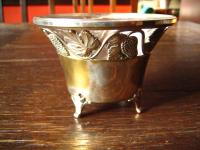 reizende Konfektschale Silberschale mit Glaseinsatz WMF silber pl Weinlaub Reben