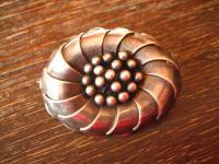 herrliche Art Deco Brosche Blume Blüte Margarite 835er Silber Handarbeit Unikat
