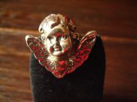 reizende antike Brosche Krawattennadel Engel Putto Kopf 800er Silber Stickpin