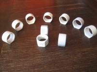 6 + 4 zeitlos elegante Serviettenringe Porzellan weiß für große Stoffservietten