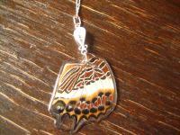 Schatz der Natur Anhänger Schmetterlingsflügel D 925er Silber Kette Eco Friendly