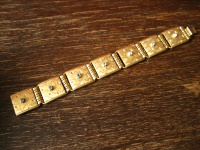 reizvolles Art Deco Armband gold Goldarmband Stern Sterne 2 cm breit 18 cm lang