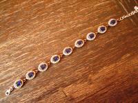Kronjuwelen gesucht ? bezauberndes saphir blau Zirkonia Armband 925er Silber oval