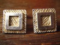 klassische Manschettenknöpfe in weißgold / silber Optik tolle Struktur sehr edel