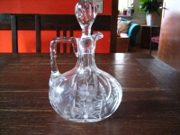 geschmackvolle Kristall Glas Karaffe Krug Sherrykaraffe Schliff Cut Glass Jug