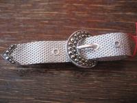 edle Art Deco Markasit Brosche Krawattennadel Gürtel 925er Silber TOP Zustand