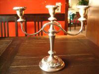 3arm Kerzenständer Kerzenhalter Kerzenleuchter Kandelaber silber pl England edel B