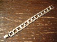 edles breites Art Deco Armband schlicht elegante Form 835er Silber 19 cm lang