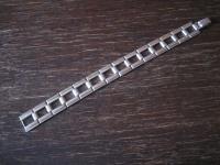 edles breites Art Deco Armband schlicht elegante Form 835er Silber 18, 5 cm lang